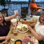 The Ford sisters enjoying steamed crabs!
