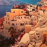 Santorini (on the wall)