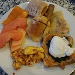 Some of the delicious food from the breakfast buffet