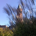 The tower at Slater Museum in the early Fall