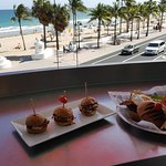 Sliders and burger $26