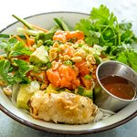 Salmon Rice Noodle Salad