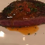 Seared beef filet with red bell pepper butter DIVINE!