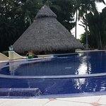 Swim up bar at heated pool