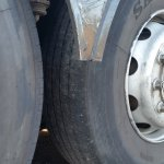 Tire tread on shuttle buses to parks