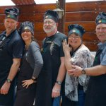 The 'fantastic five' after our successful class making Causa and Lomo Saltado. Both traditional