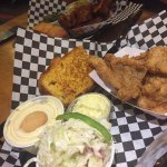 Fried catfish, homemade slaw and GRILLED CORNBREAD!