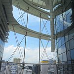 The building consists of 2 towers enveloped in glass. This is the view from the link.