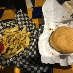 I had the legendary splitz burger combo, this is a splitz burger, fries and soft drink for $11.5