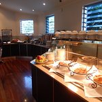 the breakfast bar area Lots to choose from