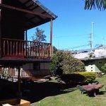 The hostel garden