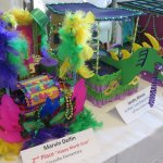 Local school children create art for Mardi Gras, which is on display at the visitor center