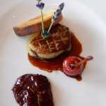 Pan fried duck liver