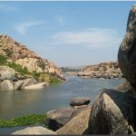 Coracle ride on the river Tungabhadra