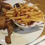 Roast half chicken