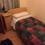 single room, shower at foot of bed, toilet to side of bed (small)