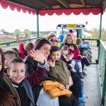 Enjoy tractor trailer rides