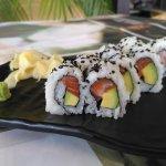 Salmon & avocado roll at Giraffe Noodle Bar