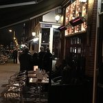 Entrance of the restaurant De Blafende vis, Amsterdam