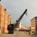 Old steam crane outside National Waterways Museum