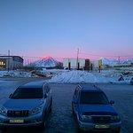 Вид на закат при выходе из гостиницы