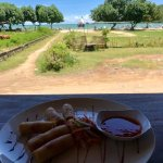 The lunch time view from Warung Bule is simply unbeatable in Kuta, Lombok! And the seafood is th
