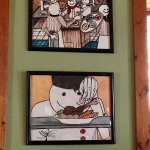 Just some of the many artwork you'll see on the dining walls