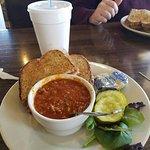 The Pie Kitchen Club sandwich with Chili.