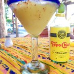 Drinks of choice: Margarita and Topo Chico (in Todos Santos)