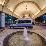 Hyatt Regency Reston offers a complimentary shuttle to Dulles Airport