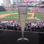 From a table in the Omni Club, a restaurant in the Club at Petco Park.