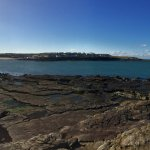 Panoramic view of Kilkee bay from the patio area