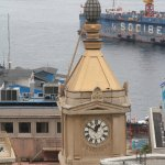 View over Turri Clock Tower ruined by works behind it....