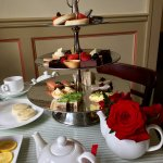 Traditional afternoon tea service; no more buffet