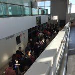This is Alicante Airport today 14 February - long, long queues for passport control due to very