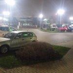Well lit parking!