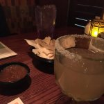 Delish margs and chips . Entrees good too  Excellent and attentive service
