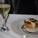 Bacon and onion tart, Macon blanc villages
