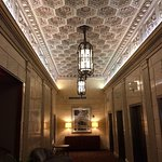 Ceiling in the lobby