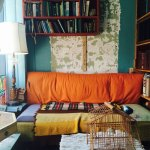 couch and books