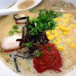 Spicy tonkotsu +corn