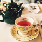 Valentine's Day special afternoon tea with West Coast Wave fruit tea.