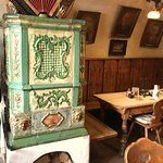 Old tiled stove in the Stueberl