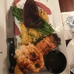 Sirloin, Crab Risotto, Lobster Tail