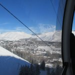 View riding the gondola up