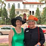 In front of the Versace mansion with PAULA