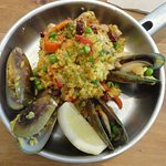 Paella for lunch.