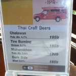Thai craft beers on offer