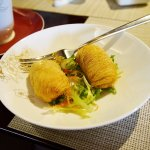 Deep fried escargot dumplings