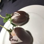 Chocolate covered strawberries on Valentine's Day